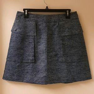 Stella McCartney Textured Navy Mini Skirt
